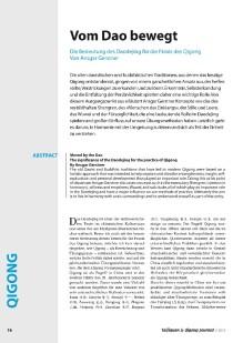 2016 Vom Dao bewegt, Taijiquan und Qigong Journal